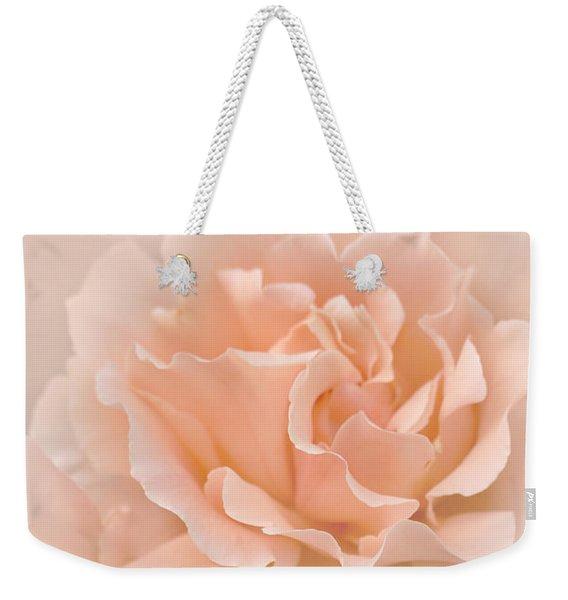 Peach Rose Flowers Bouquet Weekender Tote Bag