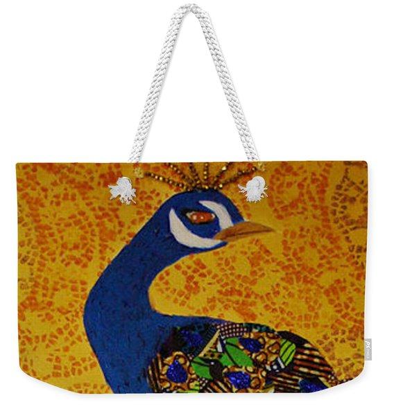 Peacock Blue Weekender Tote Bag
