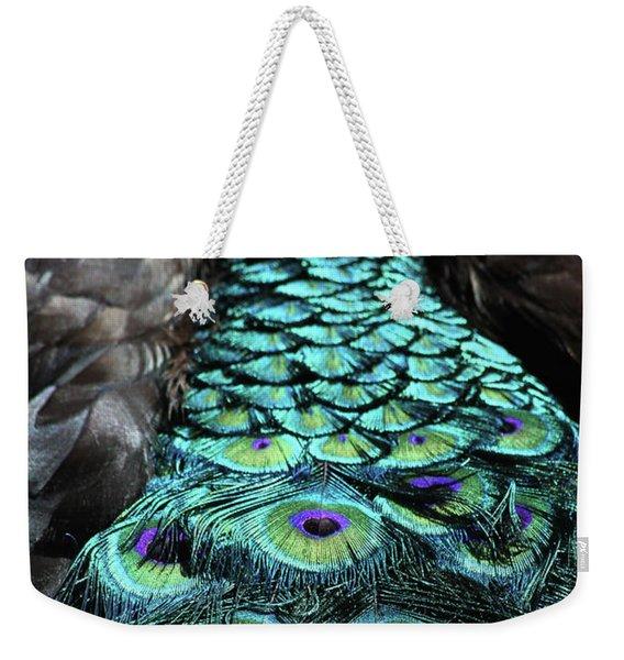 Peacock Trail Weekender Tote Bag