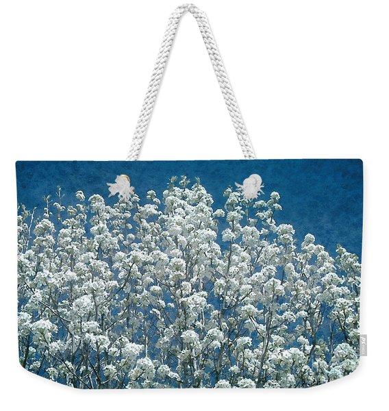 Pear Blossoms Weekender Tote Bag