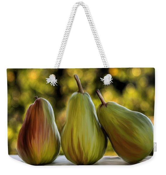 Pear Buddies Weekender Tote Bag