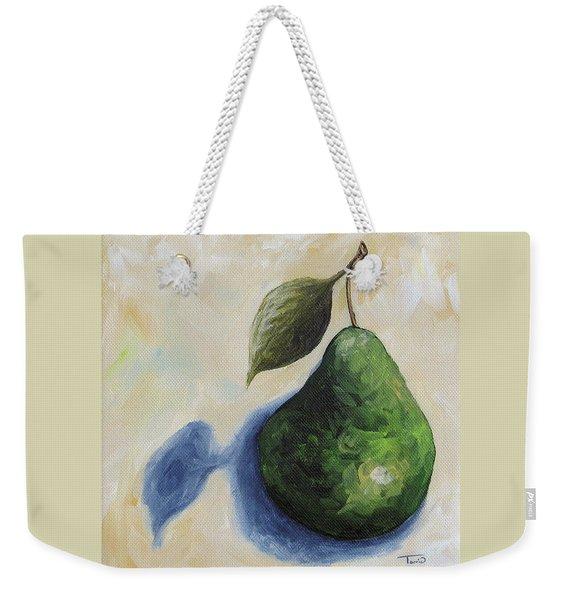 Pear In The Spotlight Weekender Tote Bag