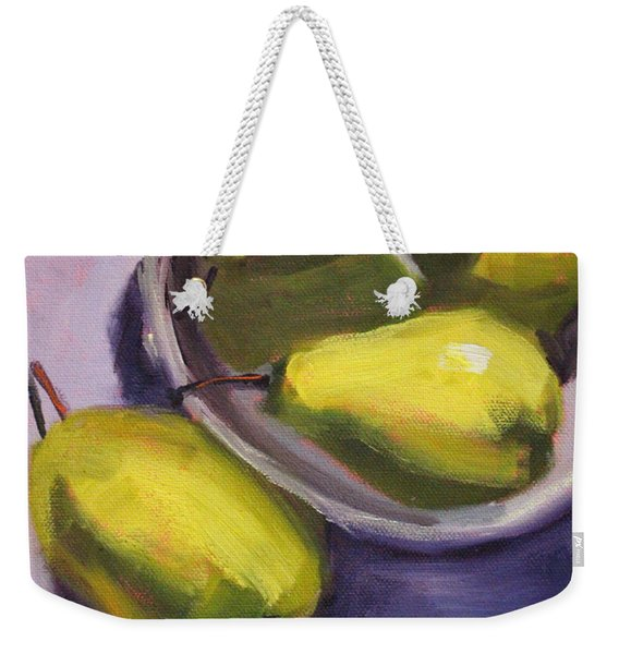 Pear Shadows Weekender Tote Bag