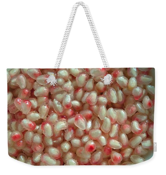 Pearly Pomegranate Seeds Weekender Tote Bag
