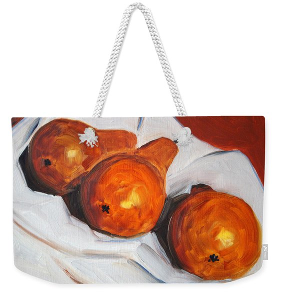 Pears On Cloth Weekender Tote Bag