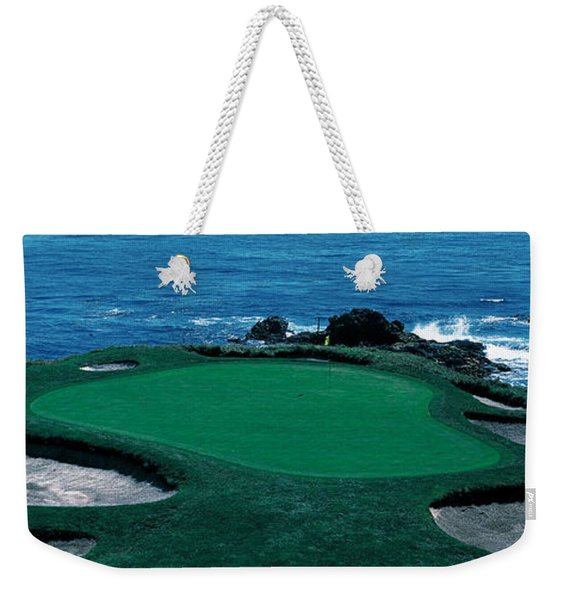 Pebble Beach Golf Course 8th Green Weekender Tote Bag