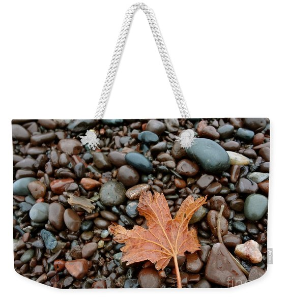 Weekender Tote Bag featuring the photograph Pebbles by Jacqueline Athmann
