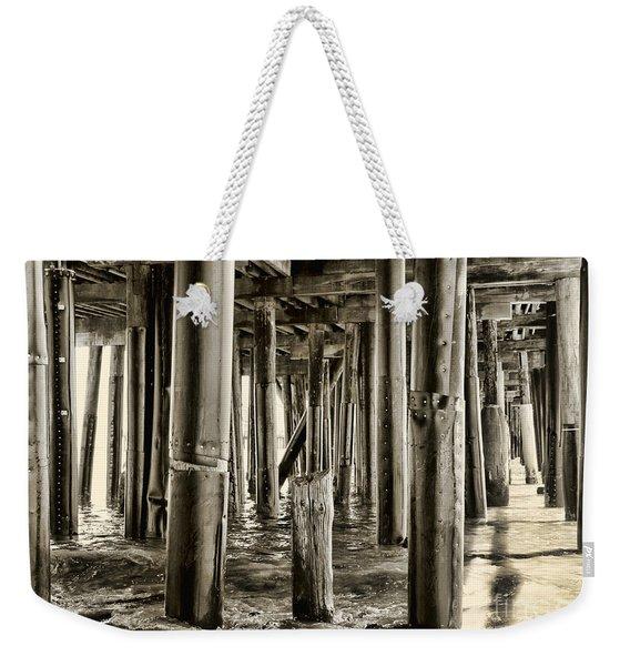 Peeking Under The Pier By Diana Sainz Weekender Tote Bag