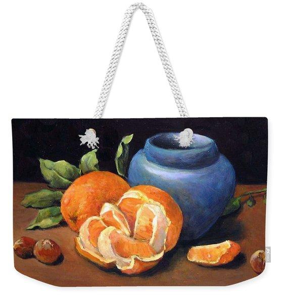 Peeled Orange Weekender Tote Bag