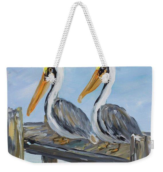 Pelicans On Deck Weekender Tote Bag