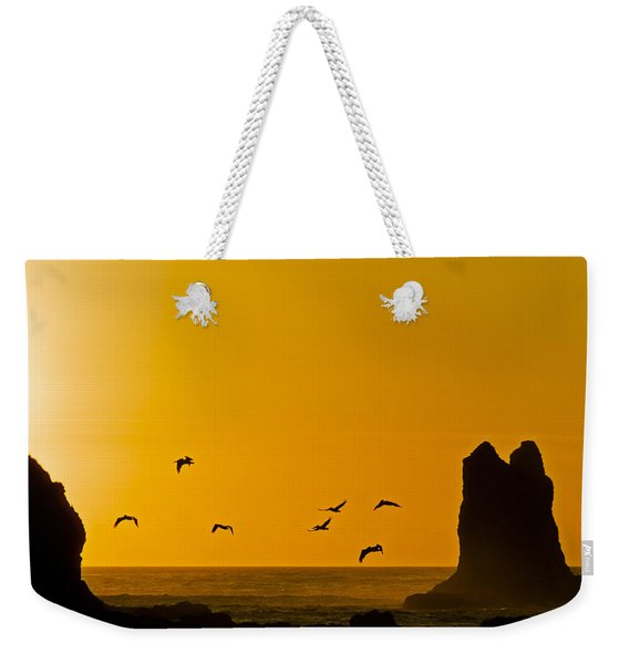 Pelicans On The Wing II Weekender Tote Bag