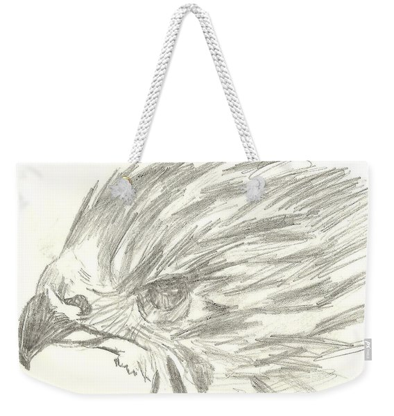 Pencil Drawing Of Hawk Eye Weekender Tote Bag