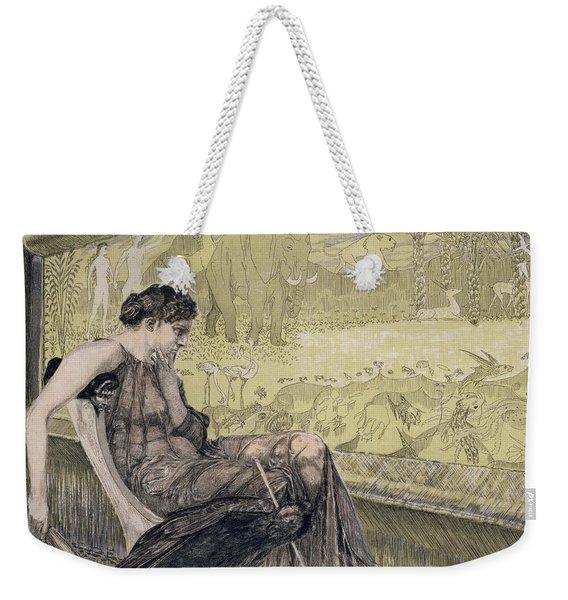 Penelope Weaving A Shroud For Laertes Weekender Tote Bag