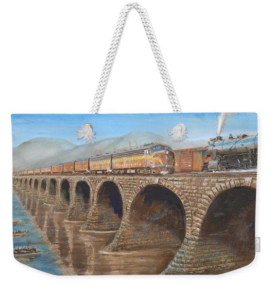 Pennsylvania Railroad On The Rockville Bridge Weekender Tote Bag
