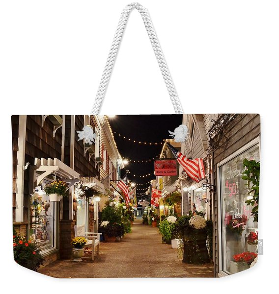 Penny Lane At Night - Rehoboth Beach Delaware Weekender Tote Bag