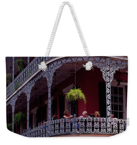People Sitting In A Balcony, French Weekender Tote Bag
