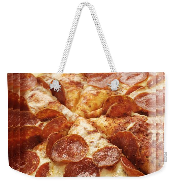 Pepperoni Pizza 25 Pyramid Weekender Tote Bag