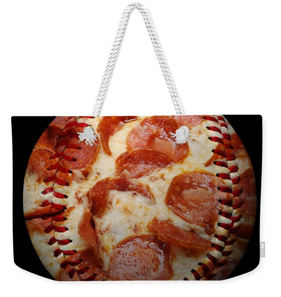 Pepperoni Pizza Baseball Square Weekender Tote Bag