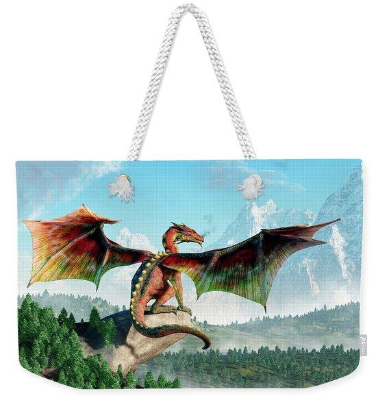 Perched Dragon Weekender Tote Bag