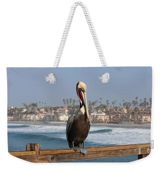 Perched On The Pier Weekender Tote Bag