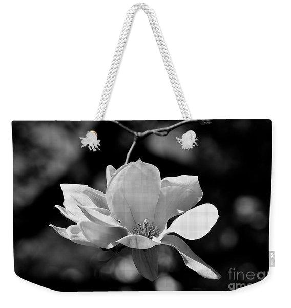 Perfect Bloom Magnolia In White Weekender Tote Bag