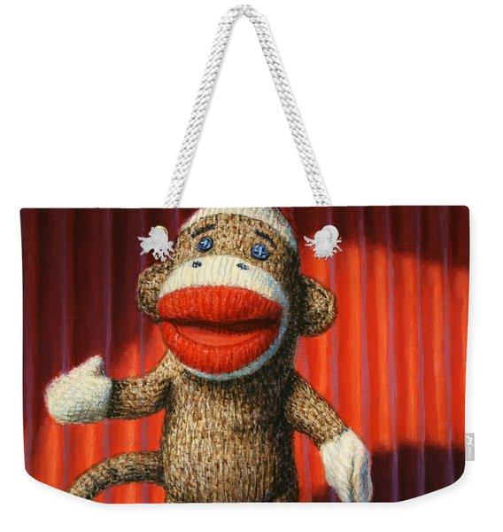 Performing Sock Monkey Weekender Tote Bag