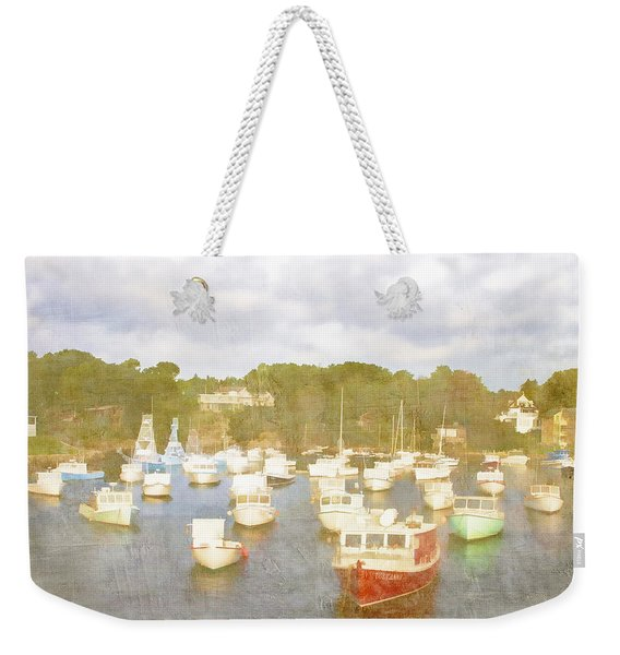 Perkins Cove Lobster Boats Maine Weekender Tote Bag