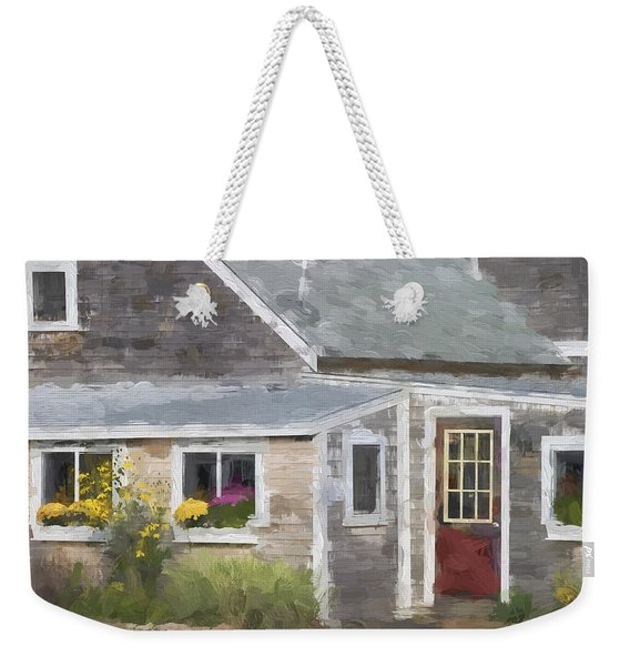 Perkins Cove Maine Painterly Effect Weekender Tote Bag