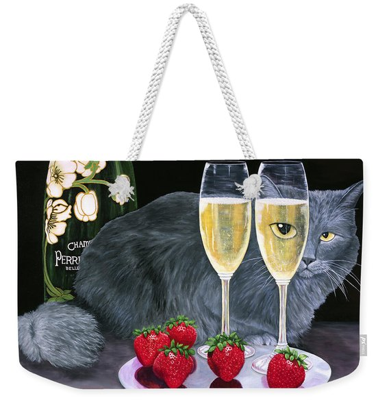 Perrier Jouet Et Le Chat Weekender Tote Bag