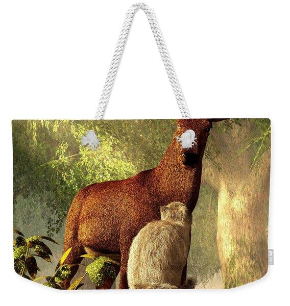 Persian Cat And Deer Weekender Tote Bag