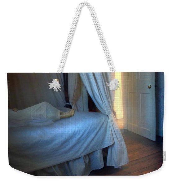 Person In Bed Weekender Tote Bag