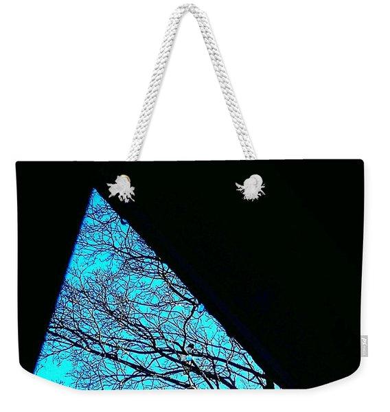 Blue Triangle Weekender Tote Bag
