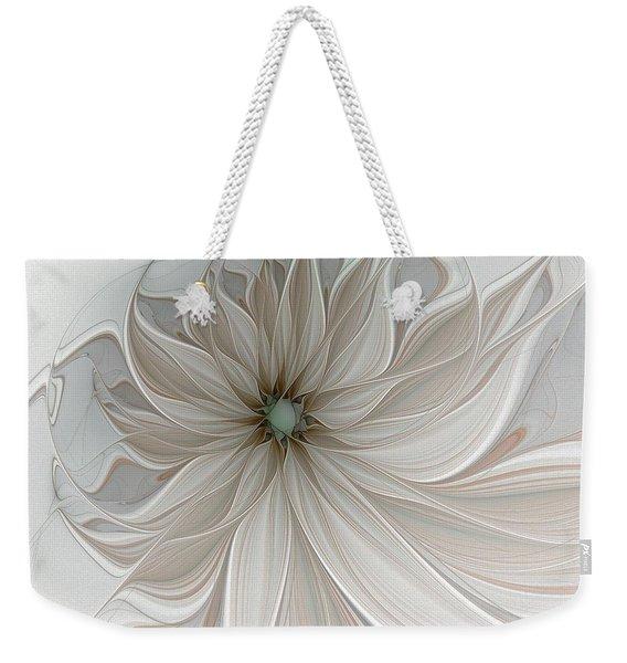 Petal Soft White Weekender Tote Bag