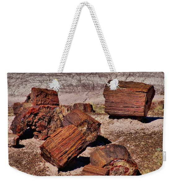 Petrified Wood Weekender Tote Bag