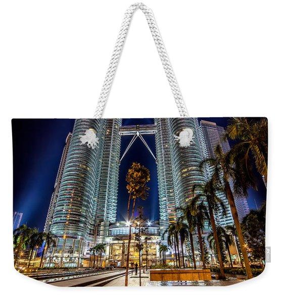 Petronas Twin Towers Weekender Tote Bag