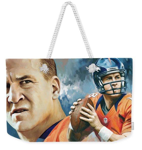 Peyton Manning Artwork Weekender Tote Bag