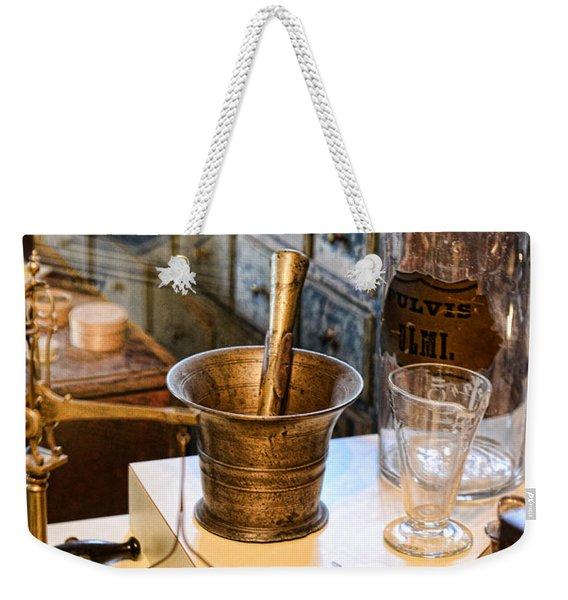 Pharmacist - Brass Mortar And Pestle Weekender Tote Bag