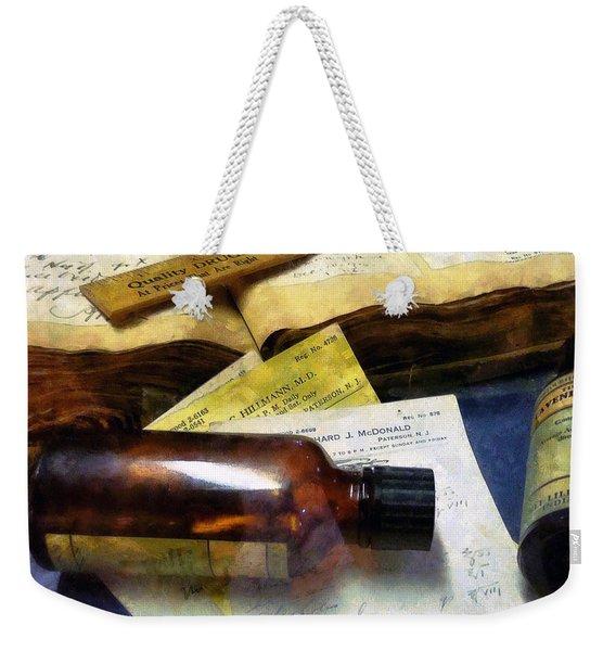 Pharmacist - Prescriptions And Medicine Bottles Weekender Tote Bag