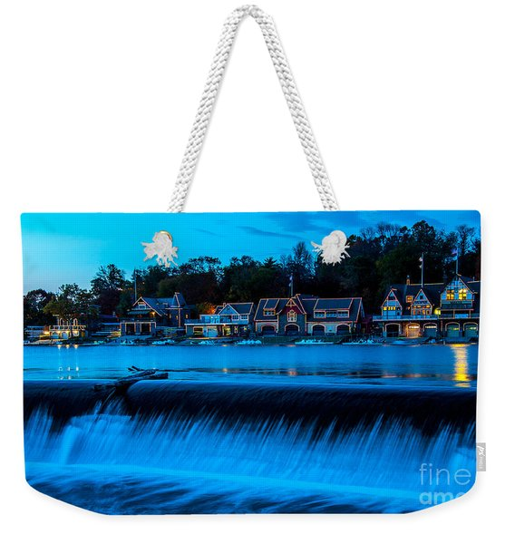 Philadelphia Boathouse Row At Sunset Weekender Tote Bag