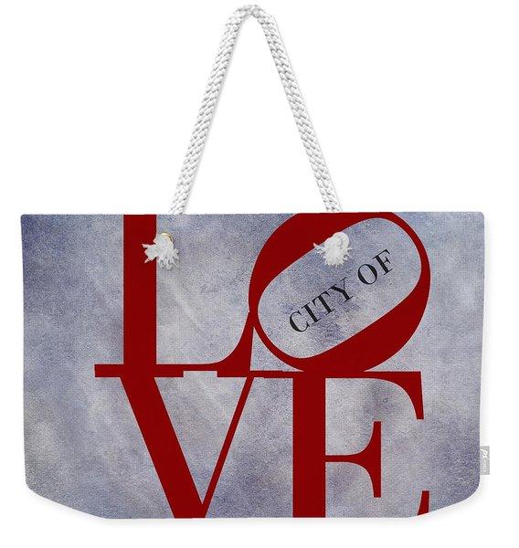 Philadelphia City Of Brotherly Love  Weekender Tote Bag