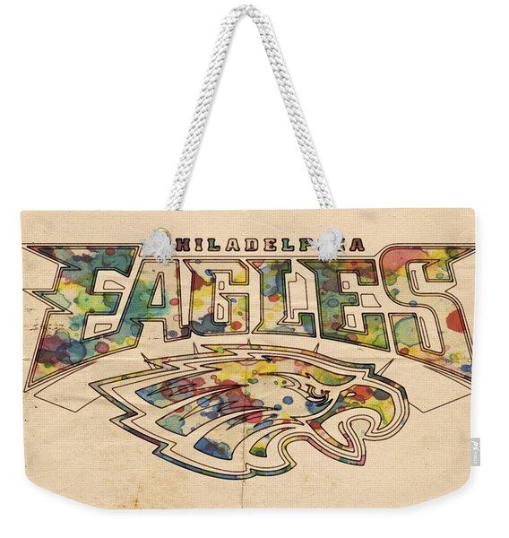 Philadelphia Eagles Poster Art Weekender Tote Bag
