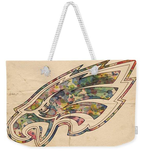 Philadelphia Eagles Poster Vintage Weekender Tote Bag