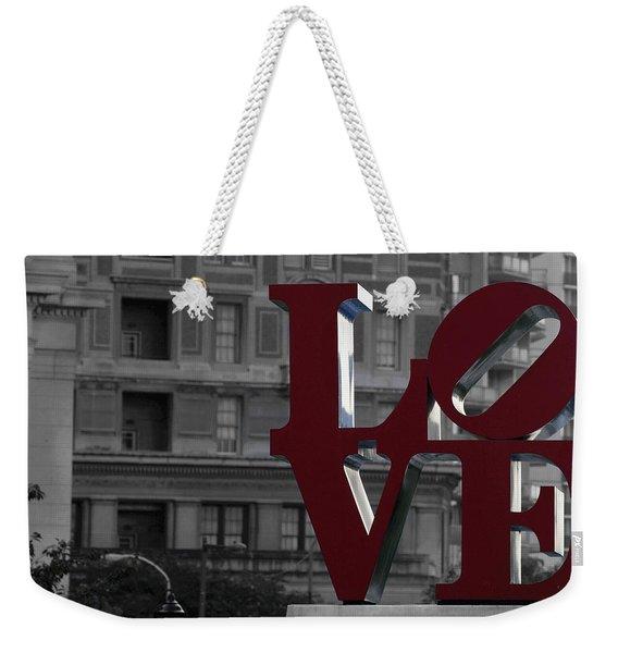 Philadelphia Love Weekender Tote Bag