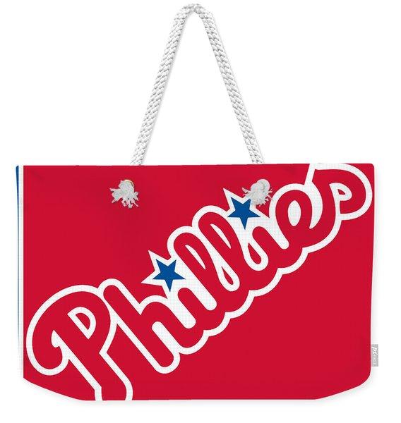 Philadelphia Phillies Baseball Weekender Tote Bag