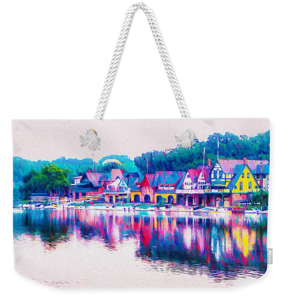 Philadelphia's Boathouse Row On The Schuylkill River Weekender Tote Bag