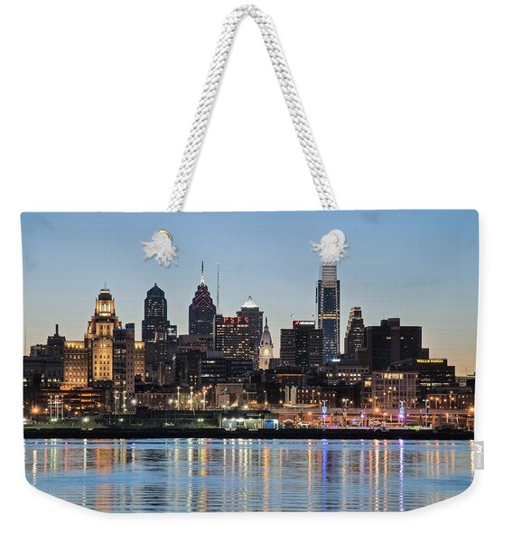 Philly Sunset Weekender Tote Bag