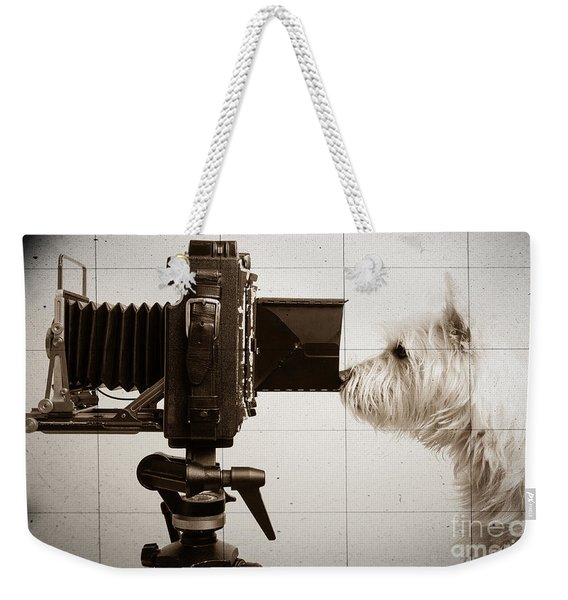 Pho Dog Grapher - Ground Glass View Weekender Tote Bag