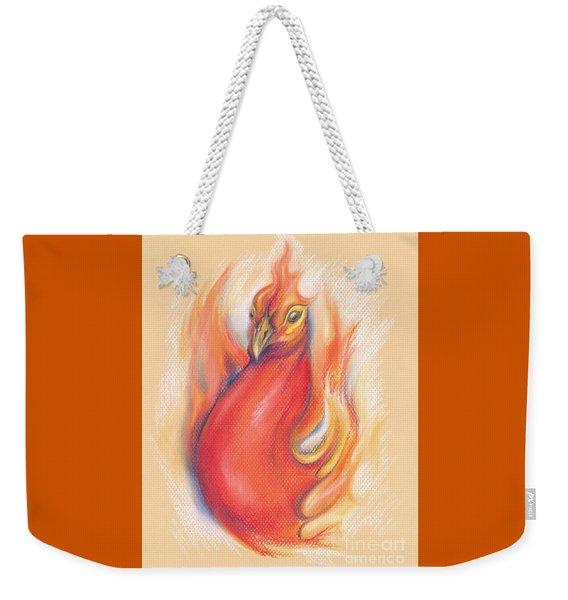 Phoenix In The Flames Weekender Tote Bag