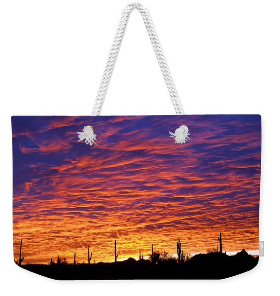 Weekender Tote Bag featuring the photograph Phoenix Sunrise by Jill Reger