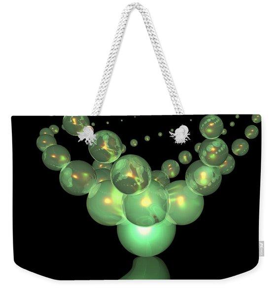 Phosphorescent Glass Twirl  Weekender Tote Bag